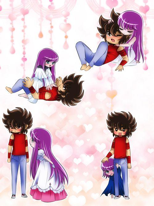 Saori y Seiya 16.