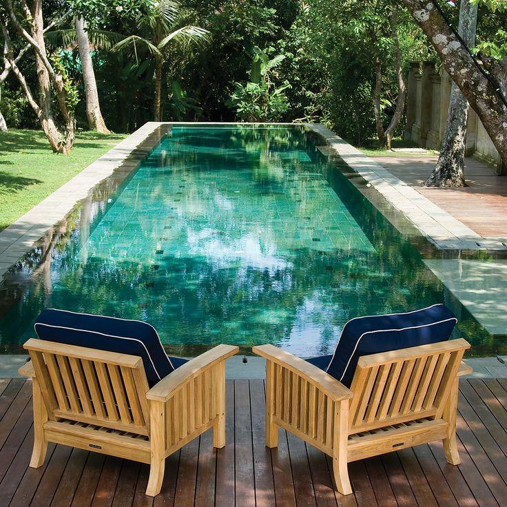 Teak Outdoor Lounge Seating Set (4 piece set) | Craftsman Collection