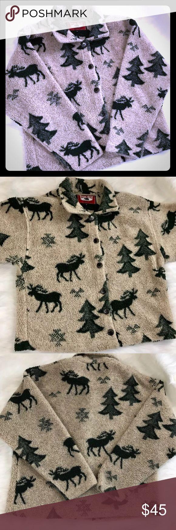 Vintage True Grit Fleece Jacket Awesome Vintage Authentic Fleece True Grit Jacket. Deer in Trees. See photos for full details. True Grit Jackets & Coats
