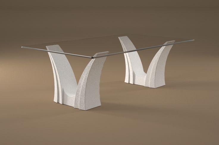 Articolo 3EA-4     Tavolino da salotto Apollo - Finitura: bianco opaco.Misure: cm 110 x 65 - Altezza cm 37  - Peso: Kg.45 - Vetro: rettangolare -  temperato - extrawhite - filo lucido - spessore 1 cm