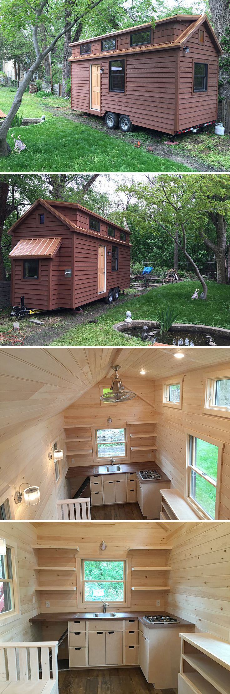 The Brownie tiny house on wheels was designed and built by James Stoltzfus, owner of Liberation Tiny Homes in Ephrata, Pennsylvania.