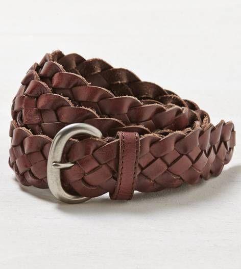 Brown AEO Braided Belt