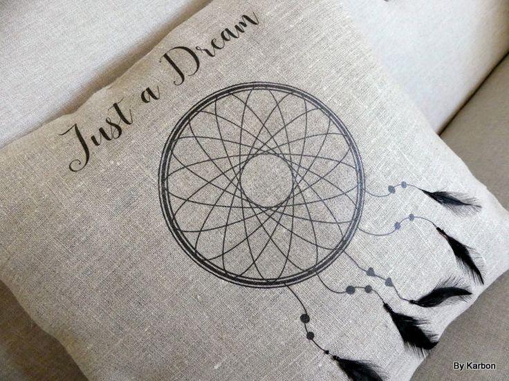 housse de coussin carrée 40x40 attrappe rêve de la boutique bykarbon sur Etsy