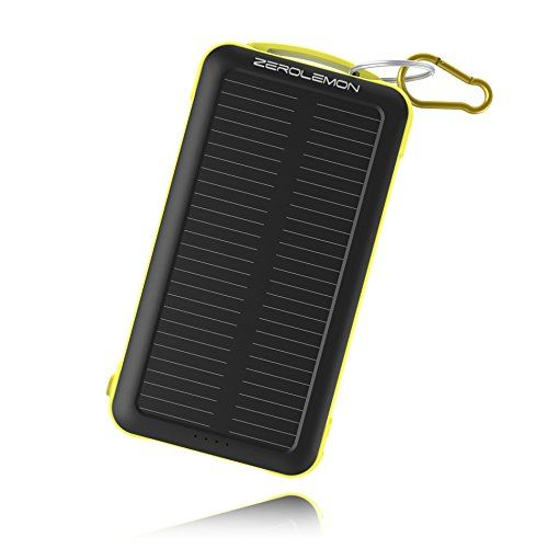 ZeroLemon SolarJuice 20000mAh Dual USB Port Portable Sola...