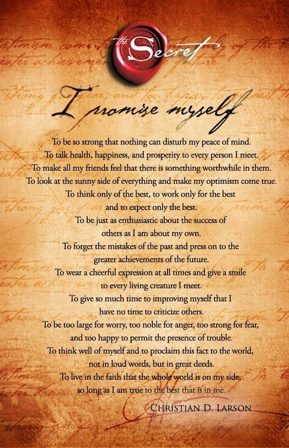 This optimists creed...love it