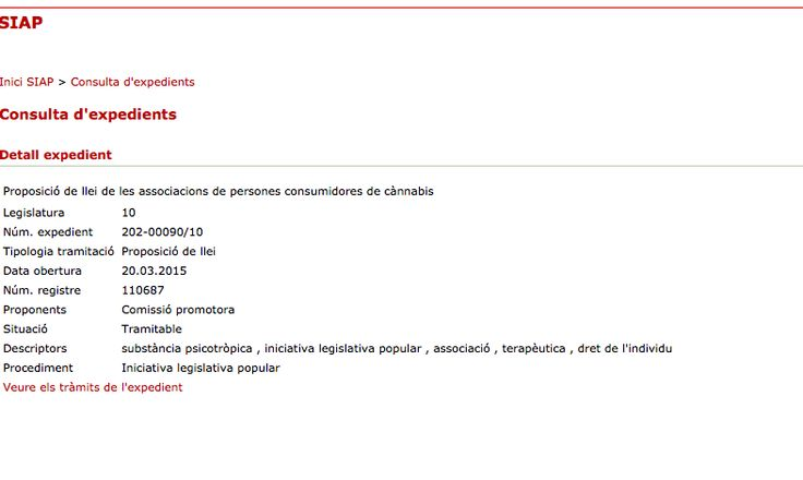 La Rosa Verda Citizens' Initiative presented in the Catalonian Parliament - See more at: http://www.parlament.cat/web/activitat-parlamentaria/siap?STRUTSANCHOR1=detallExpedient.do&criteri=202-00090/10&ad=1