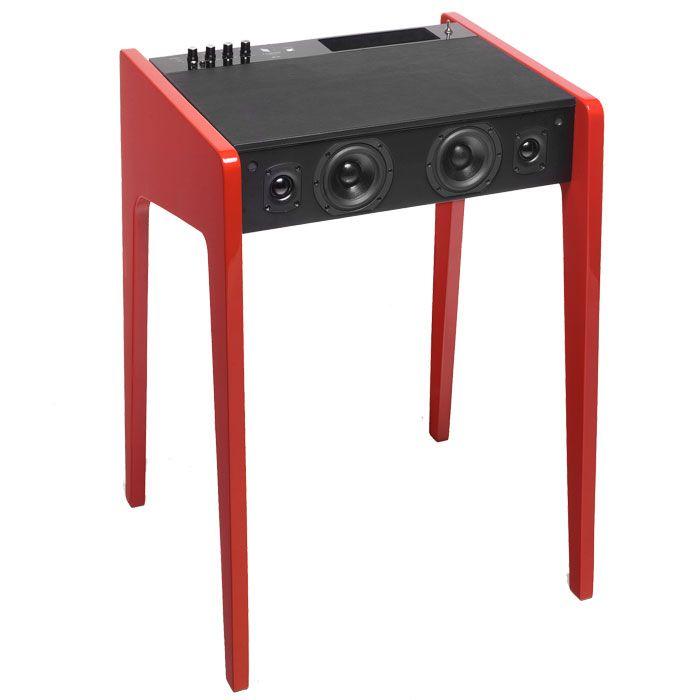 this laptop desk features a built in sound system speaker laptop desk portable desk desk. Black Bedroom Furniture Sets. Home Design Ideas