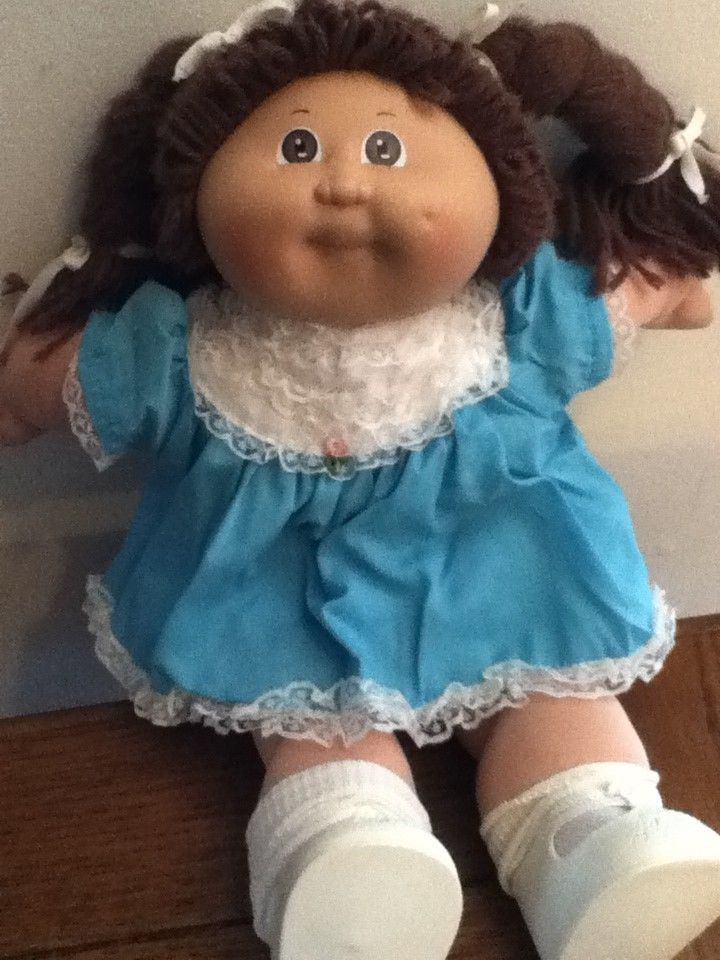 Vintage 1982 Cabbage Patch Kids Coleco Female Blue Dress Diaper T Strap Shoes | eBay