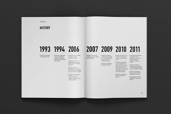 Big Years: small facts. Maybe the program along the outer edge of the left page, up and down text.
