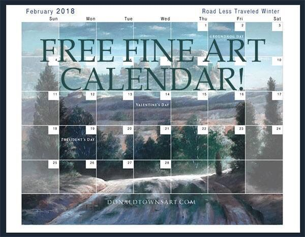 Get a 2018 free downloadable calendar when you subscribe to the monthly newsletter.