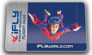 iFLY Indoor Skydiving honeymoon fun Spread Your Wings for Two - $129.95 With this package, 2 people share time flying, plus you get a DVD and everything else you need for a great first time out.