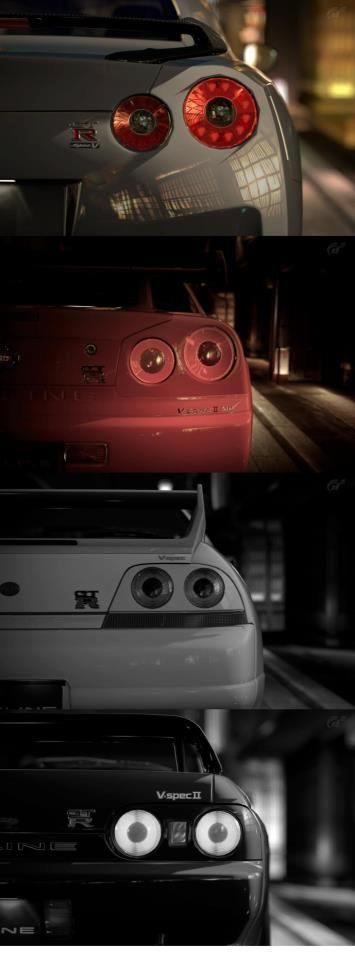 Nissan Skyline GT-R over time ugh i want all of them lol