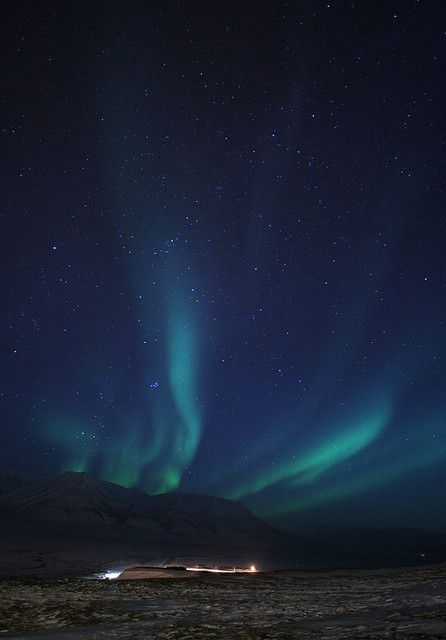 Northern Lights in Svalbard, Norway