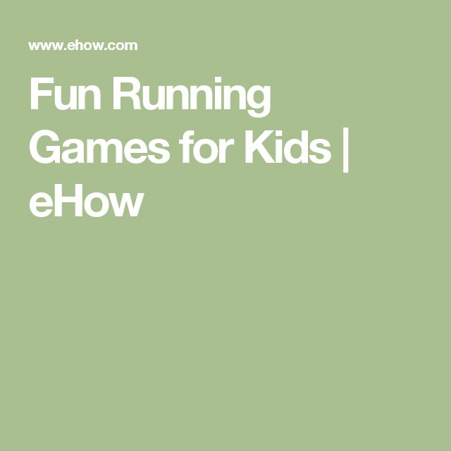 Fun Running Games for Kids | eHow