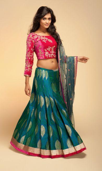 Bridal Lehengas - Designer Lehengas Cholis with Heavy Work for Weddings by Vemanya