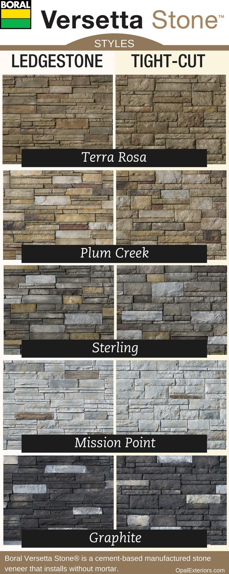 Boral Versetta Stone® styles and colors.