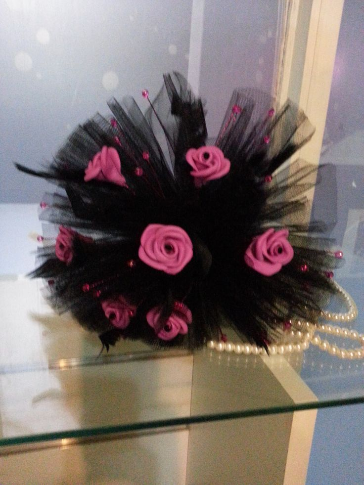 Tulle and foam rose bouquet