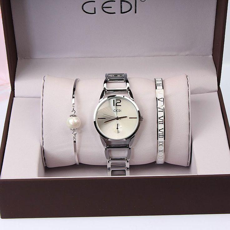 3PC Set GEDI <b>Brand Women Watches</b> Fashion Party Ladies <b>Watch</b> ...