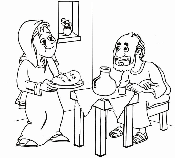Elijah And The Widow Coloring Page Fresh 82 Best Images About Elijah On Pinterest Elijah And The Widow Elijah Bible Bible Coloring