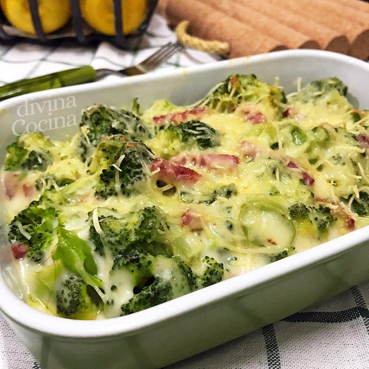 Este brócoli gratinado tiene una preparación sencilla y es un plato sabroso y consistente. Con esta misma receta puedes preparar también la coliflor. Bechamel, Broccoli, Food And Drink, Broccoli Gratin, Broccoli Cauliflower Salad, Healthy Lunches, Health Foods, Potatoes