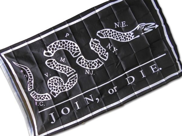 Join or Die Historical Flag: http://www.fairfaxbynight.com/join-or-die-american-heritage-flag/#