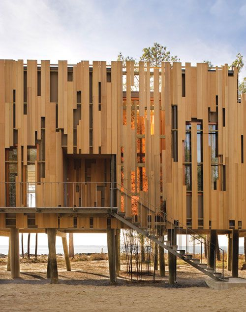 Best 20 wood facade ideas on pinterest timber cladding - Steel framing espana ...