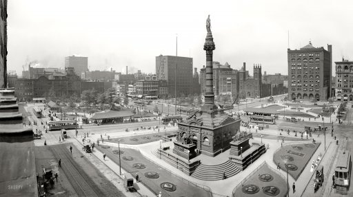 Soldier and Sailors Monument, Cleveland, Ohio. 1907