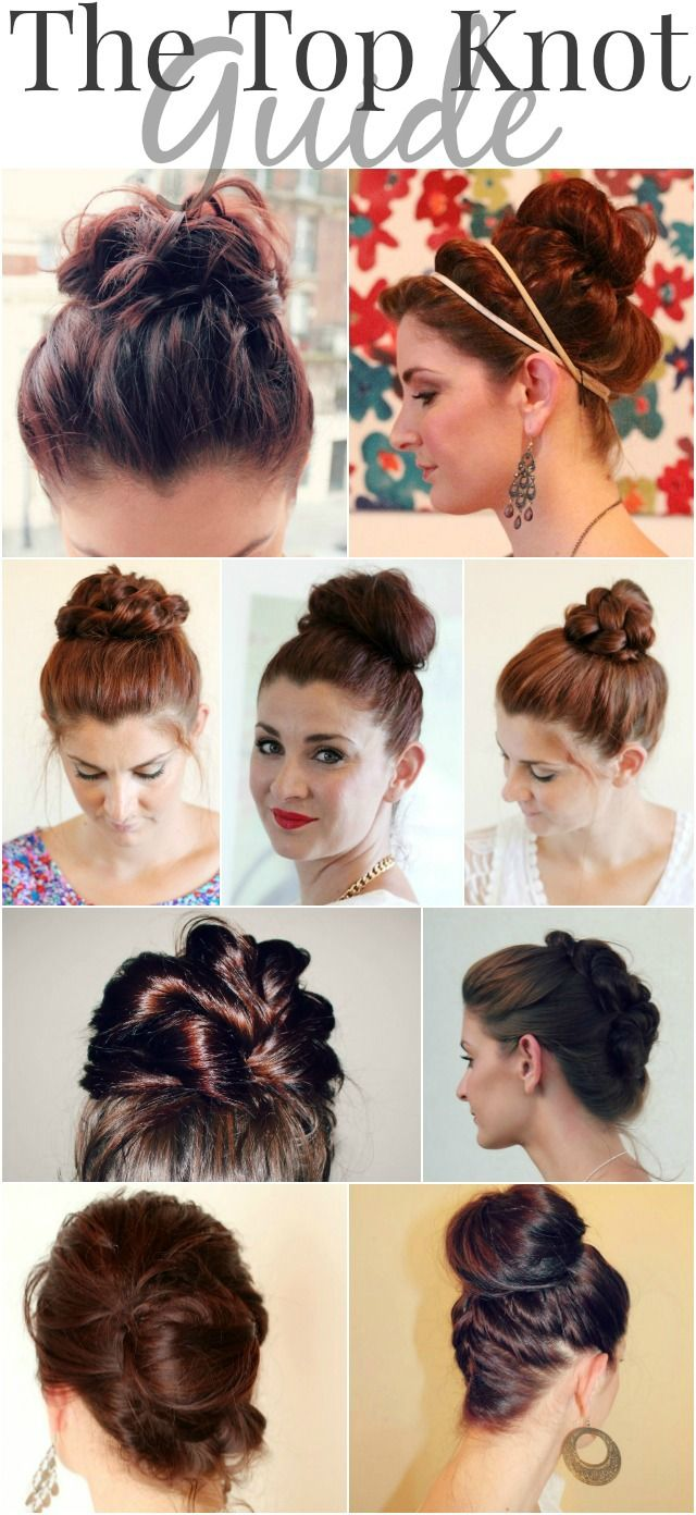 The top knot guide - so many cute options! Can't wait to try some of them! :-)