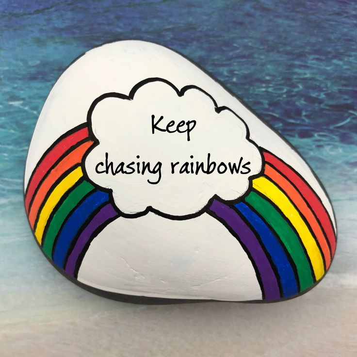 Rainbow Paperweight, Custom Encouragement Rock, Painted Stone, Rainbow Gift, Follow Your Dreams, Chasing Rainbows, Graduation Gift – Karen Abraham