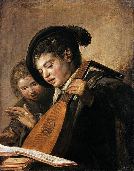 Frans Hals - Two Boys Singing circa 1625 oil on canvas Gemäldegalerie Alte Meister, Kassel