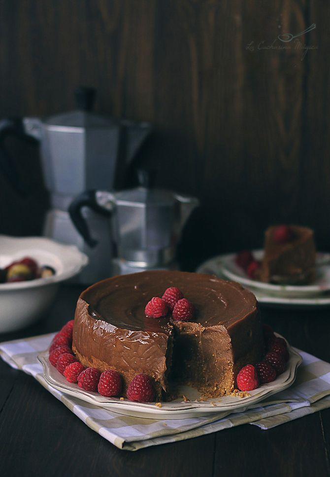 Tarta de castañas y chocolate. Tarta fácil y deliciosa