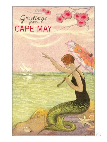 Greetings from Cape May, New Jersey Print bij AllPosters.nl