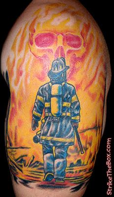 Firefighter tattoos and tattoos and body art on pinterest