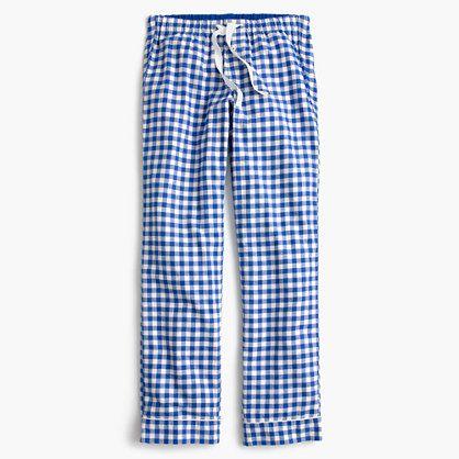 J.Crew+-+Gingham+flannel+pajama+pant