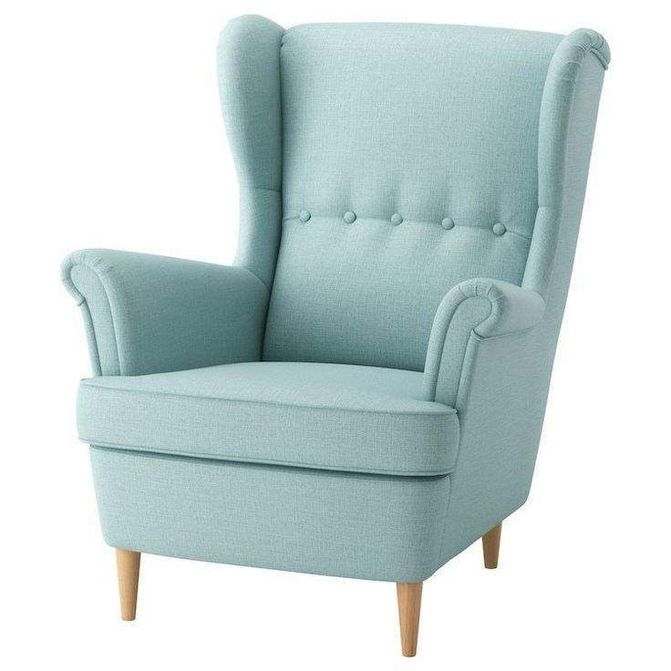 STRANDMON ørelappstol (lys turkis!) IKEA