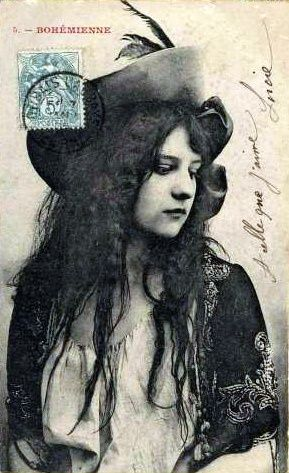 """Bohémienne"", french postcard 1900"