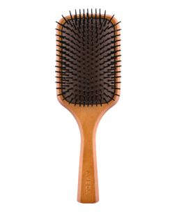 Aveda Wooden Paddle Brush - use for scalp treatments and detangling Find out more at Aveda.com