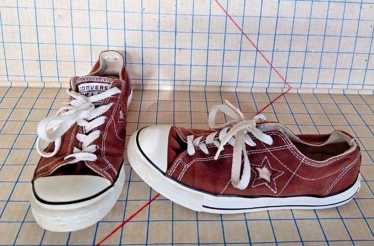 Brown Converse One Star Tennis Shoes Women's Canvas Sz 8 Fashion Sneakers #ConverseOneStar #FashionSneakers