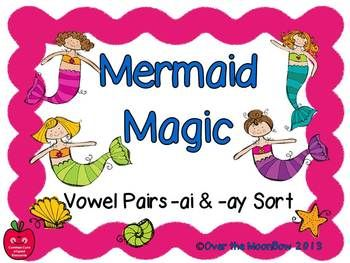 Your students will love this whimsical mermaid themed language arts & grammar center!