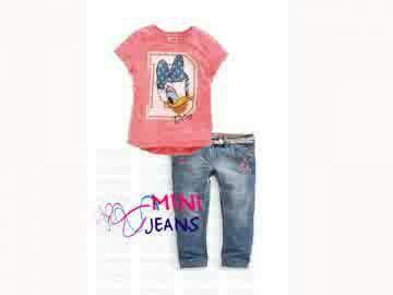 GS1156, @136k, Bahan : Kaos katun, Jeans.  Warna : Orange.  Ket : Untuk anak usia sekitar 1 - 6 tahun.          Celana pinggang karet. Motif bordir.          Ada Belt. Pemesanan sms/wa 082328384495