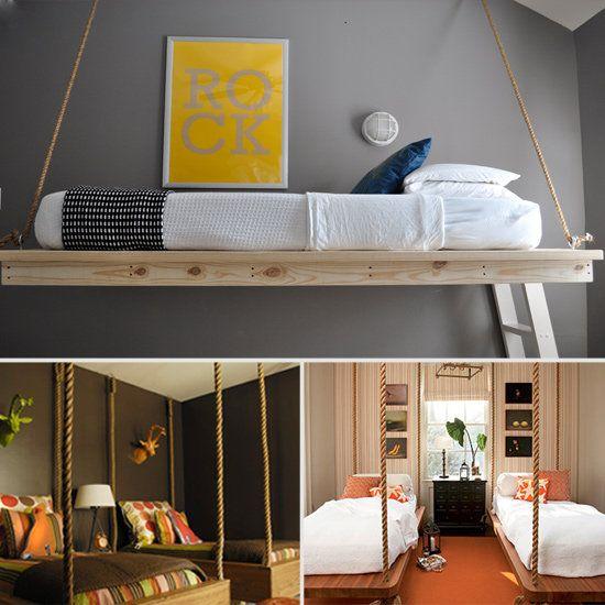162 best images about hanging beds on pinterest loft for Suspended beds for kids