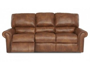 The Macon leather reclining sofa set is Made in the USA and has attached seat cushions and a kiln dried hardwood frame.