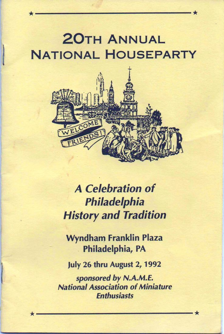 National Association of Miniature Enthusiasts, 20th Annual National Houseparty, A Celebration of Philadelphia History & Tradition, 1992 by VintageNEJunk on Etsy