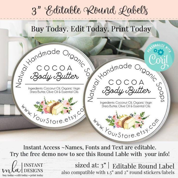 Editable Round Label, DIY Round Label, Round Label