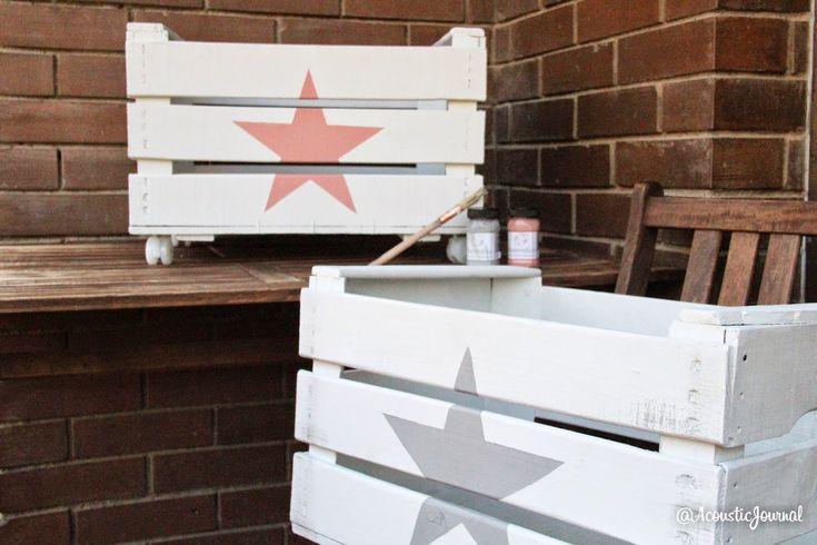 Tutorial diy; de cajas de frutas a caja de juguetes / Diy tutorial toys box