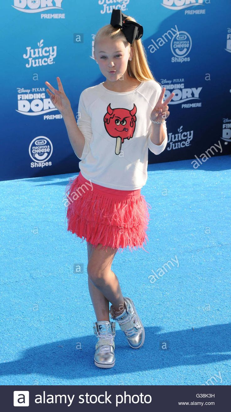 Download this stock image: Hollywood, CA, USA. 8th June, 2016. 08 June 2016 - Hollywood. Jojo Siwa. Arrivals for the World Premiere Of Disney-Pixar's ''Finding Dory'' held at the El Capitan Theater. Photo Credit: Birdie Thompson/AdMedia © Birdie Thompson/AdMedia/ZUMA Wire/Alamy Live News - G38K3H from Alamy's library of millions of high resolution stock photos, illustrations and vectors.
