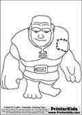 Clash Of Clans - Giant - Coloring Page