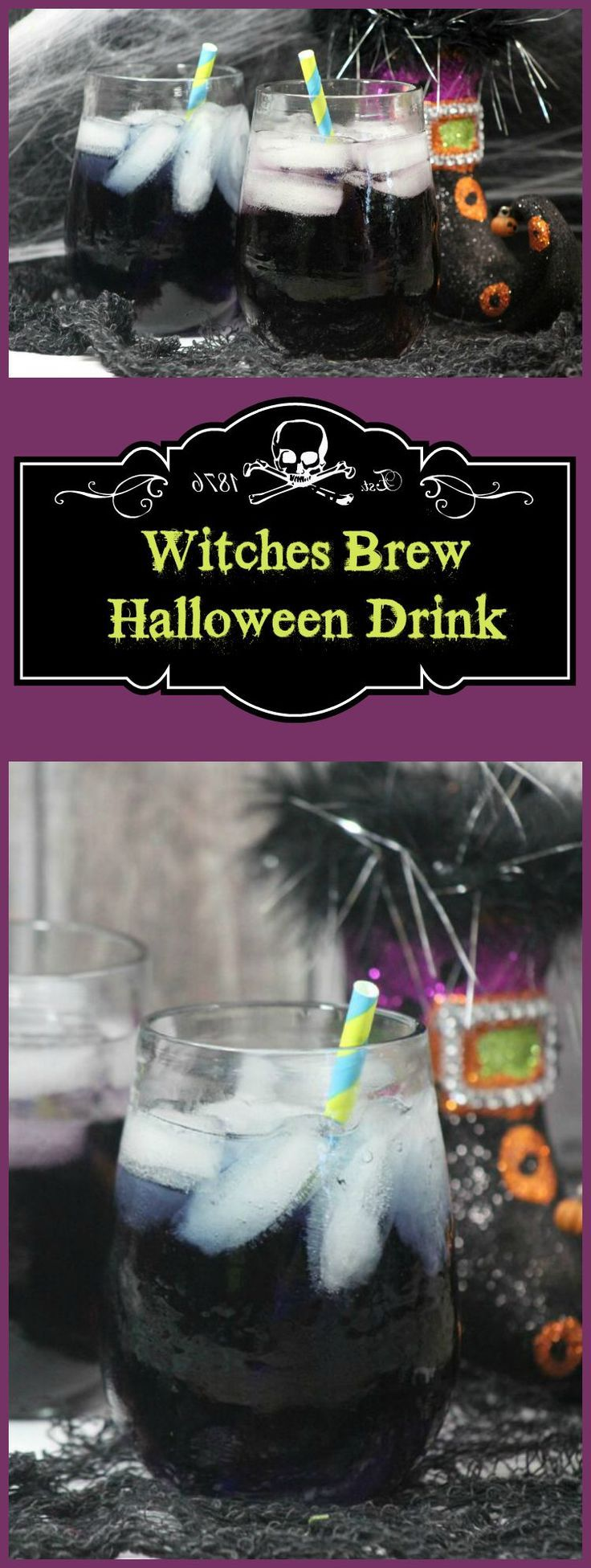 Double, double toil & trouble! It's time to bubble up a fun Halloween drink for kids! Make this Witches Brew in just a few minutes! It's perfect for Halloween parties,before trick or treating or just to celebrate the Fall season!