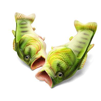 Fish Animal Slippers Summer Beach Sandals Shower Slippers Non-Slip Funny Beach Shoes Wear For Women Men Review