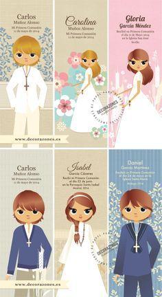 Decorazones.es _ Adaptaciones de nuestros diseños sobre marca libros de Primera Comunión